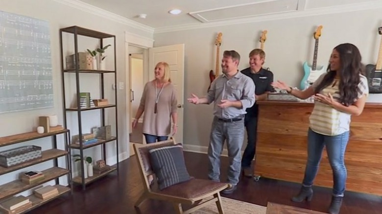 Chip and Joanna Gaines with homebuyers