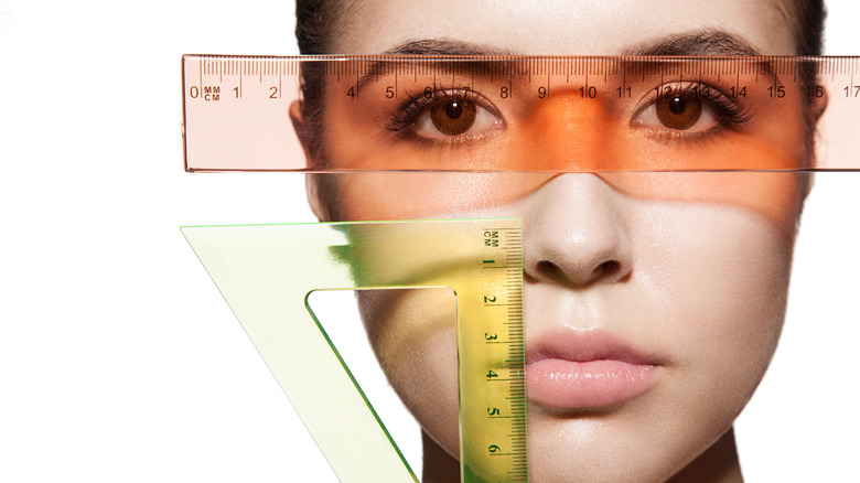 average face size rulers measurement