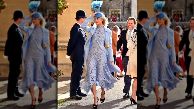 Poppy Delevingne at Princess Eugenie's wedding