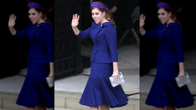 Princess Beatrice at Princess Eugenie's wedding