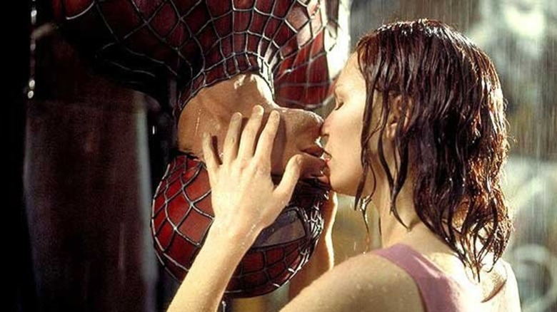 Kiss scene from Spider-Man