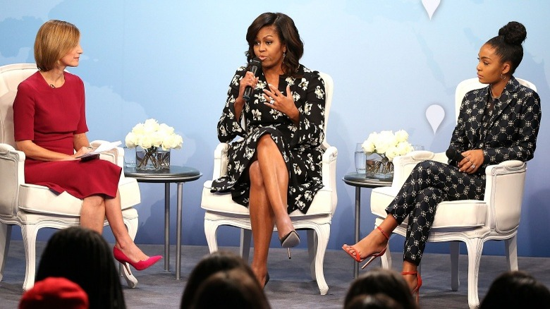 Michelle Obama speaking