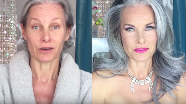Mature character makeup