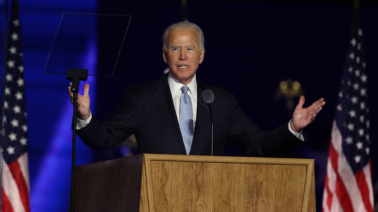 Biden's body language during his victory speech said a lot