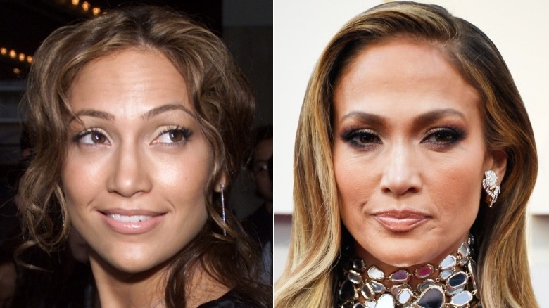 Jennifer Lopez eyebrows before and after