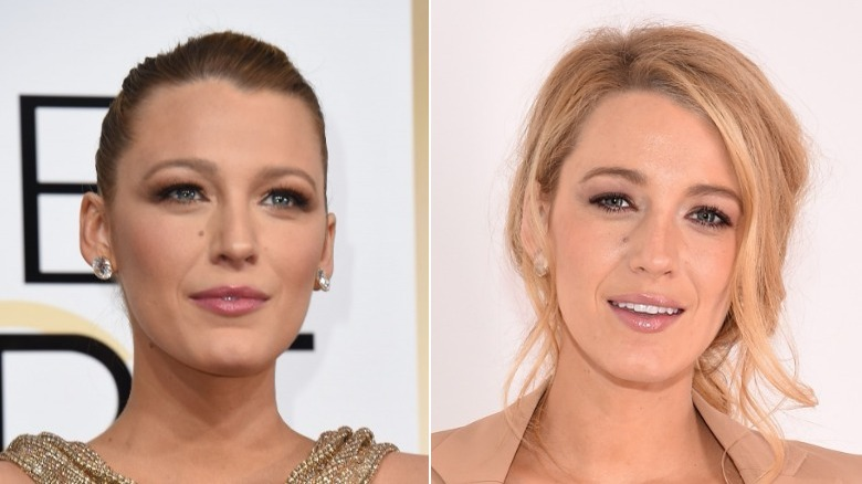 Blake Lively before and after natural hair