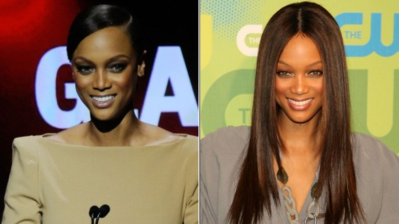 Tyra Banks before and after natural hair