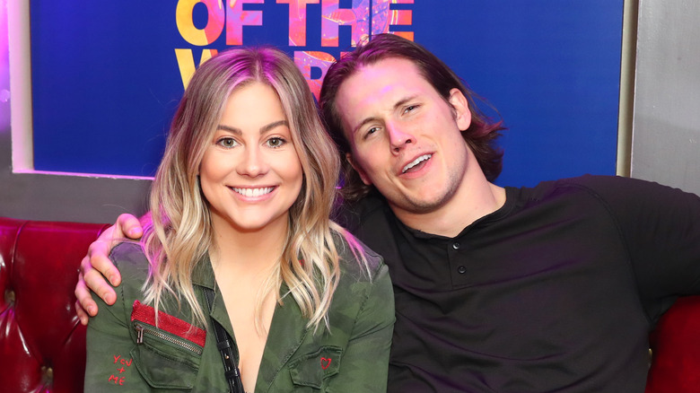 female athlete Shawn Johnson and Andrew East