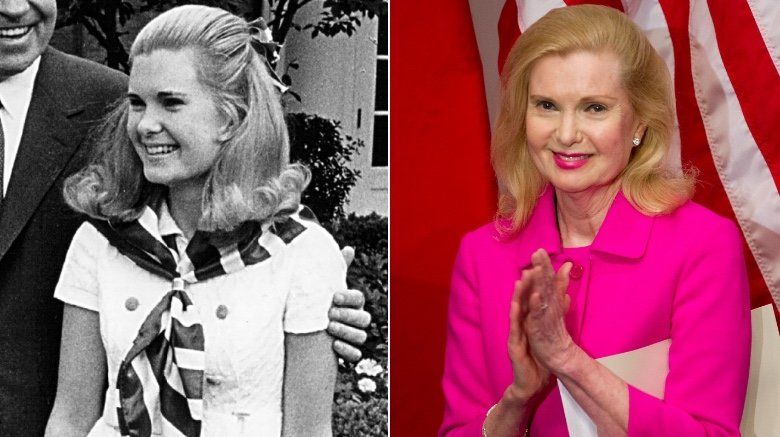 Tricia Nixon Cox then and now