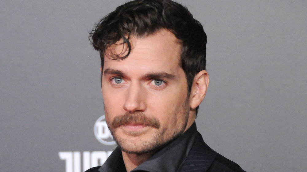 Henry Cavill with a mustache
