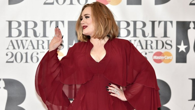 Adele at the Brit Awards in 2016
