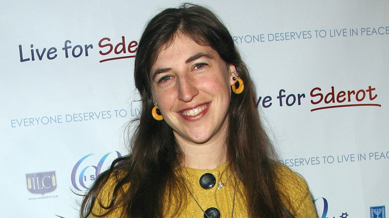Mayim Bialik on the red carpet in 2008