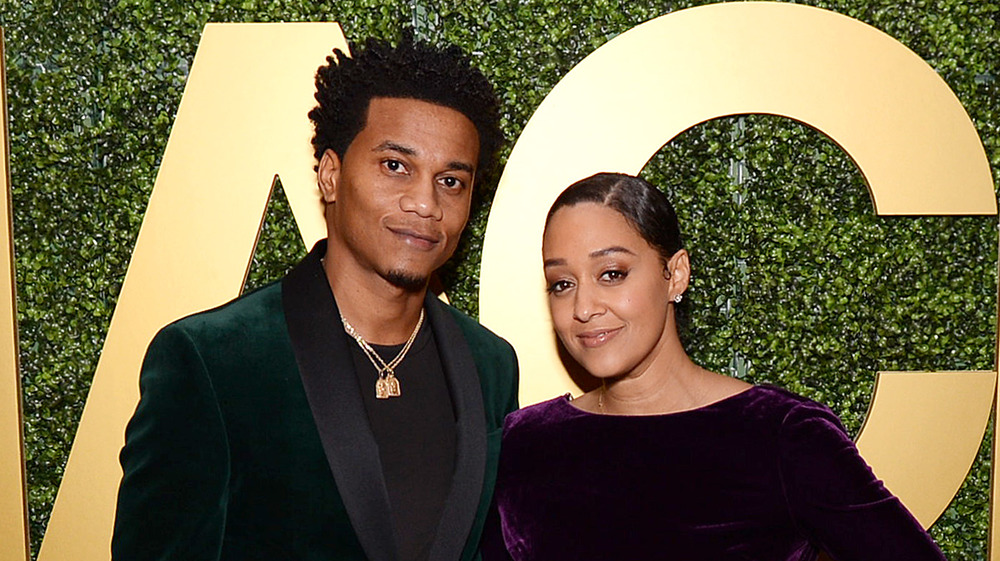 Cory Hardrict, Tia Mowry in West Hollywood