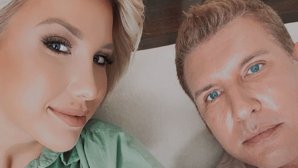 Todd and Savannah Chrisley in a selfie