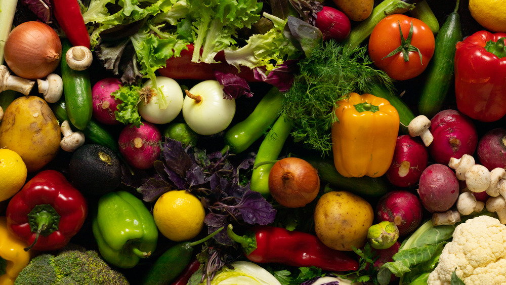 mixed raw vegetables