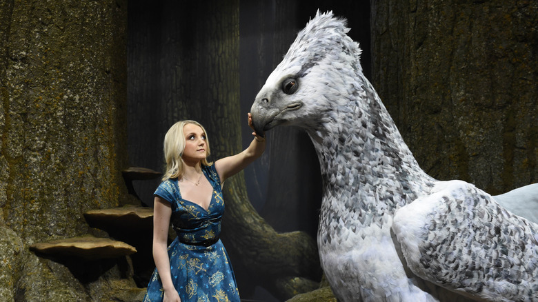 Evanna Lynch with creature