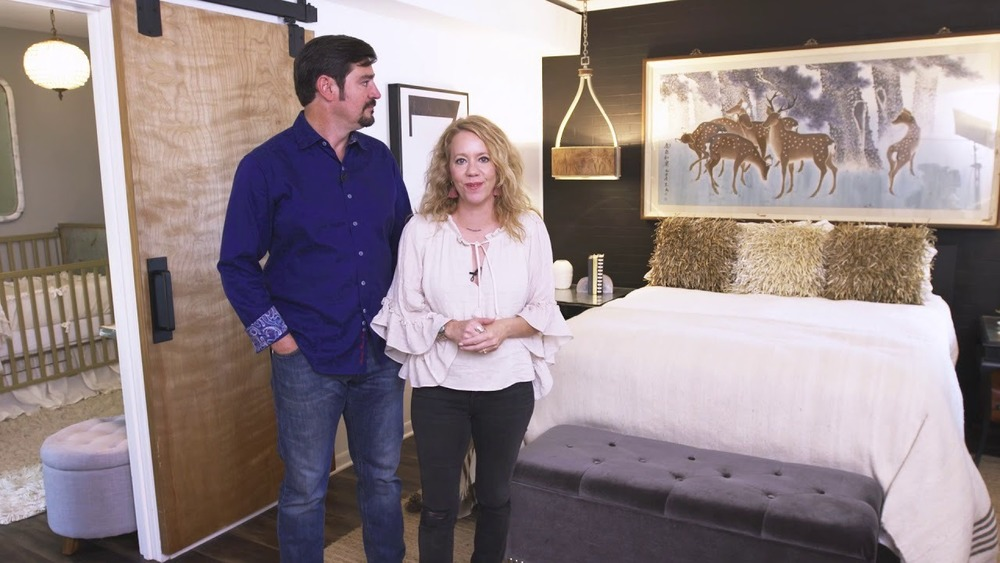Two Fixer Upper clients in a bedroom