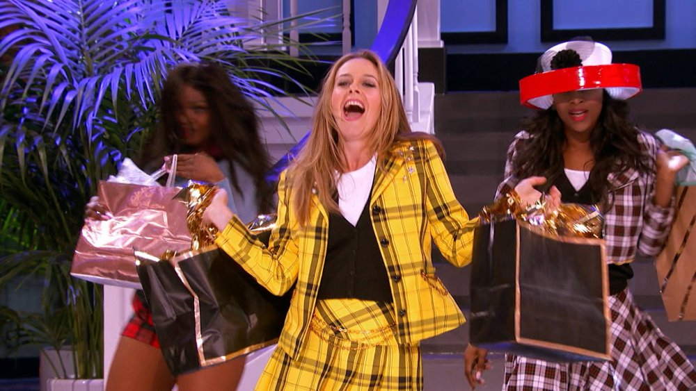 Alicia Silverstone dressed as Cher from Clueless on Lip Synch Battle